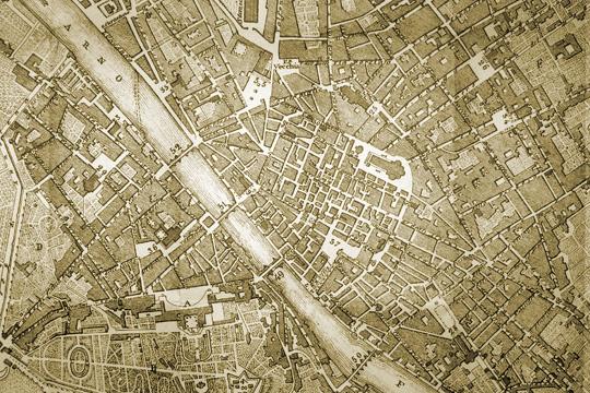 Mappa di Firenze nel 1864